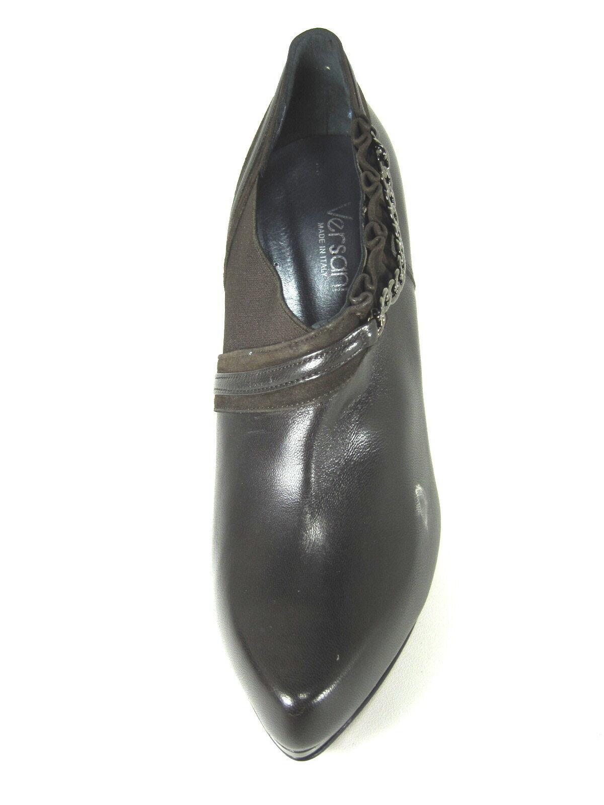 Versani Para Mujer cuero  2321 ankle-bootie Bombas marrón cuero Mujer napa color piel nos Mediano cce8bf