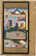 ISLAMIC INDO-PERSIAN ORIGINAL HAND-MADE PAINTING ON PAPER MINIATURE MANUSCRIPT