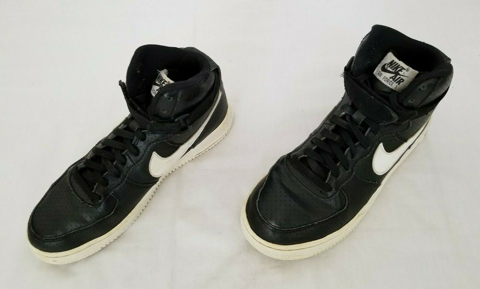 Youth Size 5 5y Black White Nike Air Force 1 High Top Leather