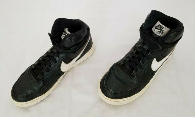 nike black leather high tops