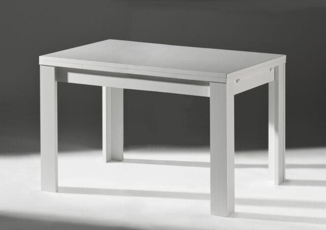 Tisch Esstisch 120 X 80 Holz Weiss Ausziehbar 2408 Gunstig Kaufen Ebay