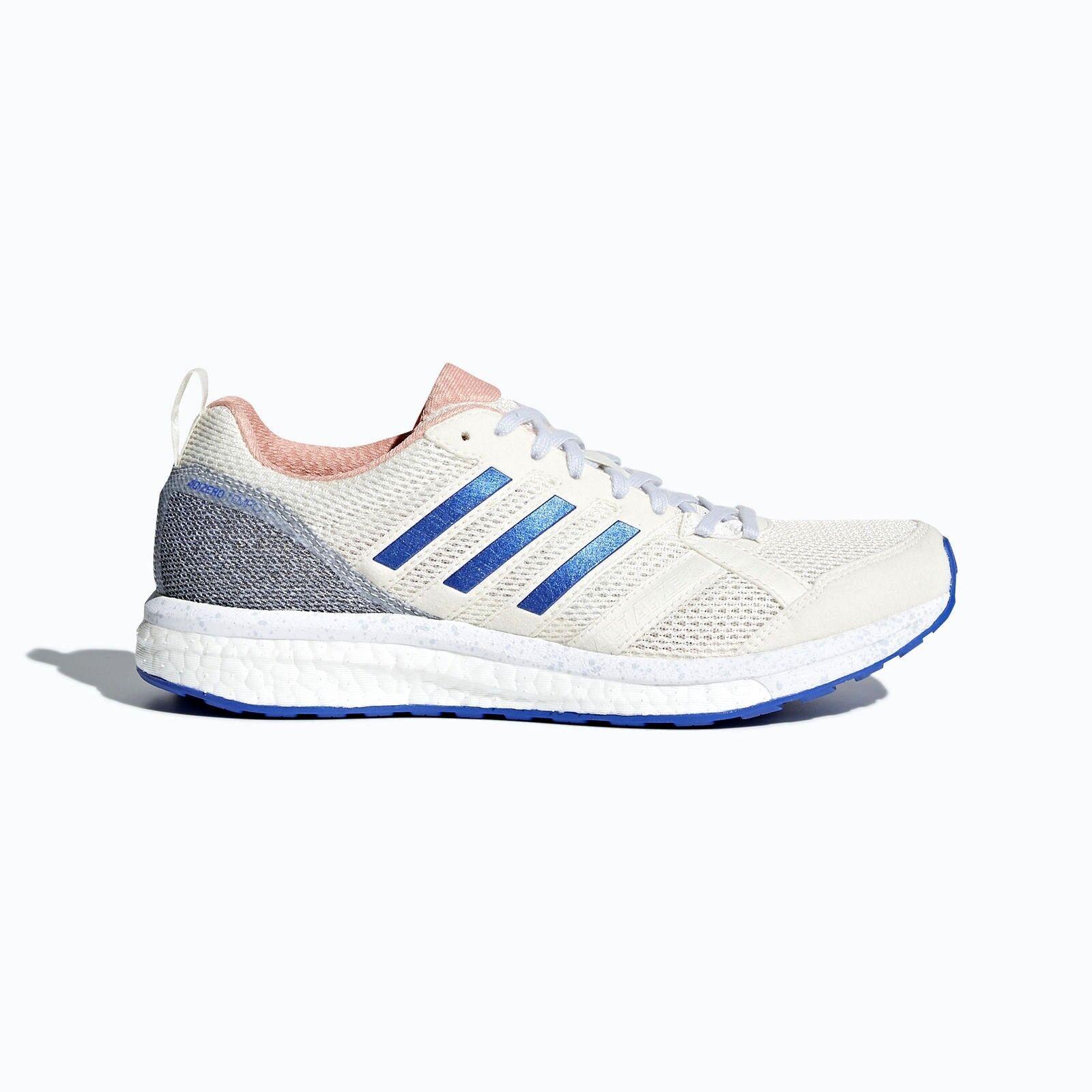 Adidas Adizero Tempo 9 White/Aero Shoes Blue CP9498 Womens Running Shoes White/Aero Size 8 46a4d0