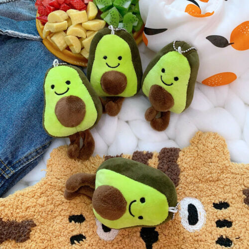 Avocado Corduroy Dolls Plush Key Chain Ring Bag Pendant Toys Gift uk