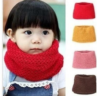 DI CA 2014 New Children Winter Warm Infinity Cable Knit Cowl Neck  Scarf Shawl