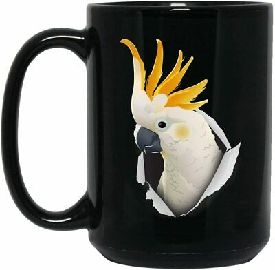 Funny Cockatoo White Parrot Mug For Men Women Animal Lovers Coffee Mug 11oz 15oz Ebay
