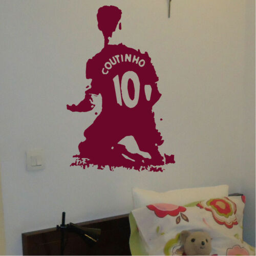 Famous Footballer Football Player Wall Stickers Transfer Decal Boys Gift idea UK