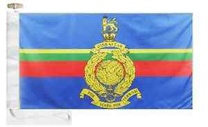 Verzamelingen Corps of Royal Marines RM w/o Crest Courtesy Boat Flag Roped & Toggled