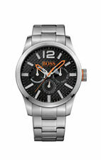 Hugo Boss Orange Paris Men's Silver S.S Multidial Watch 1513238 New with Tags