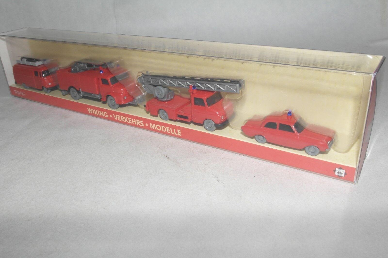 Wiking 1 1 1 87 185335 PMS Verkehrs-Modelle Themenset Feuerwehr II 4tlg. OVP(EC5060)  | Verwendet in der Haltbarkeit  16b475