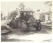 1930s MACK AC Tractor & Riveted Lowboy Tandem Trailer 8x10 B&W Glossy Photo