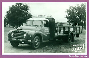 photo vintage pub vieux camion citro n carrosserie freiss belfort j46 ebay. Black Bedroom Furniture Sets. Home Design Ideas