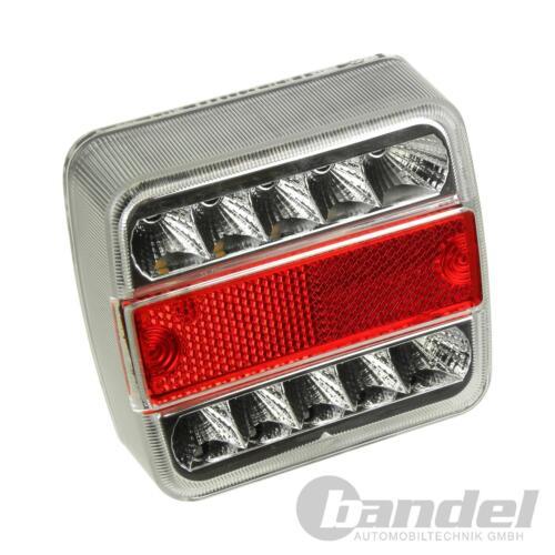 Rimorchio LED Lampada Luce Posteriore Fanale RETROVISORE Luce del freno con cavi collegamento