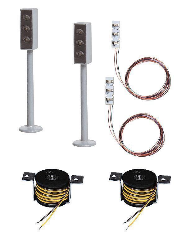Faller Car-System 161656, 2 LED-Ampeln mit Stopp-Stelle, Stopp-Stelle, Stopp-Stelle, Neuware.  | Neuer Stil  d34854