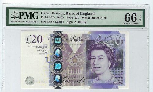 Great Britain 2006 20 Pounds P392a PMG 66 EPQ