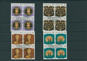 Switzerland-vintage-yearset-1992-Mi-1470-1473-Postmarked-pro-Patria-4-er-Bl