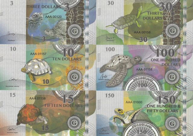 Gilbert Islands set 6 banknotes 2015 UNC private issue