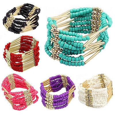 Bohemian Style Multilayer Beaded Bracelet Bangle Women Fashion Jewelry