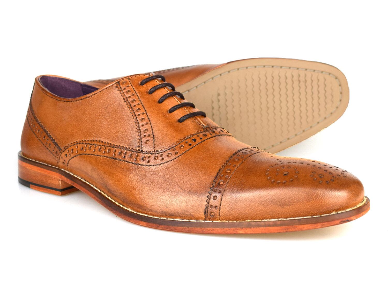 Gucinari Castello Tan Leather Formal Brogue shoes AMP-008