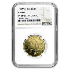 1987 China 1/2 oz Proof Gold Panda PF-69 NGC - SKU #58667