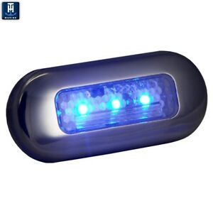 TH Marine Oblong Courtesy LED Accent Light Blue Free Shipping