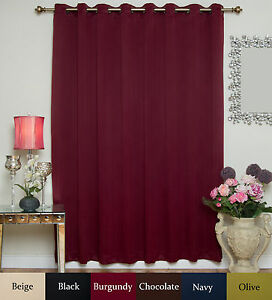 Details About Wide Width Antique Brass Grommet Top Blackout Curtain 100 Inch By 96 Inch Panel