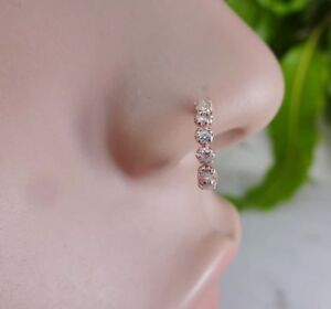 Nepal Jewelry Stud 925 Sterling Silver Indian Nose Ring Christmas