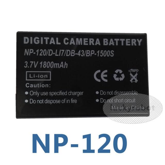 Li-ion, 3.7 v, 750 mAh GP pilas para Fujifilm NP-40 40N