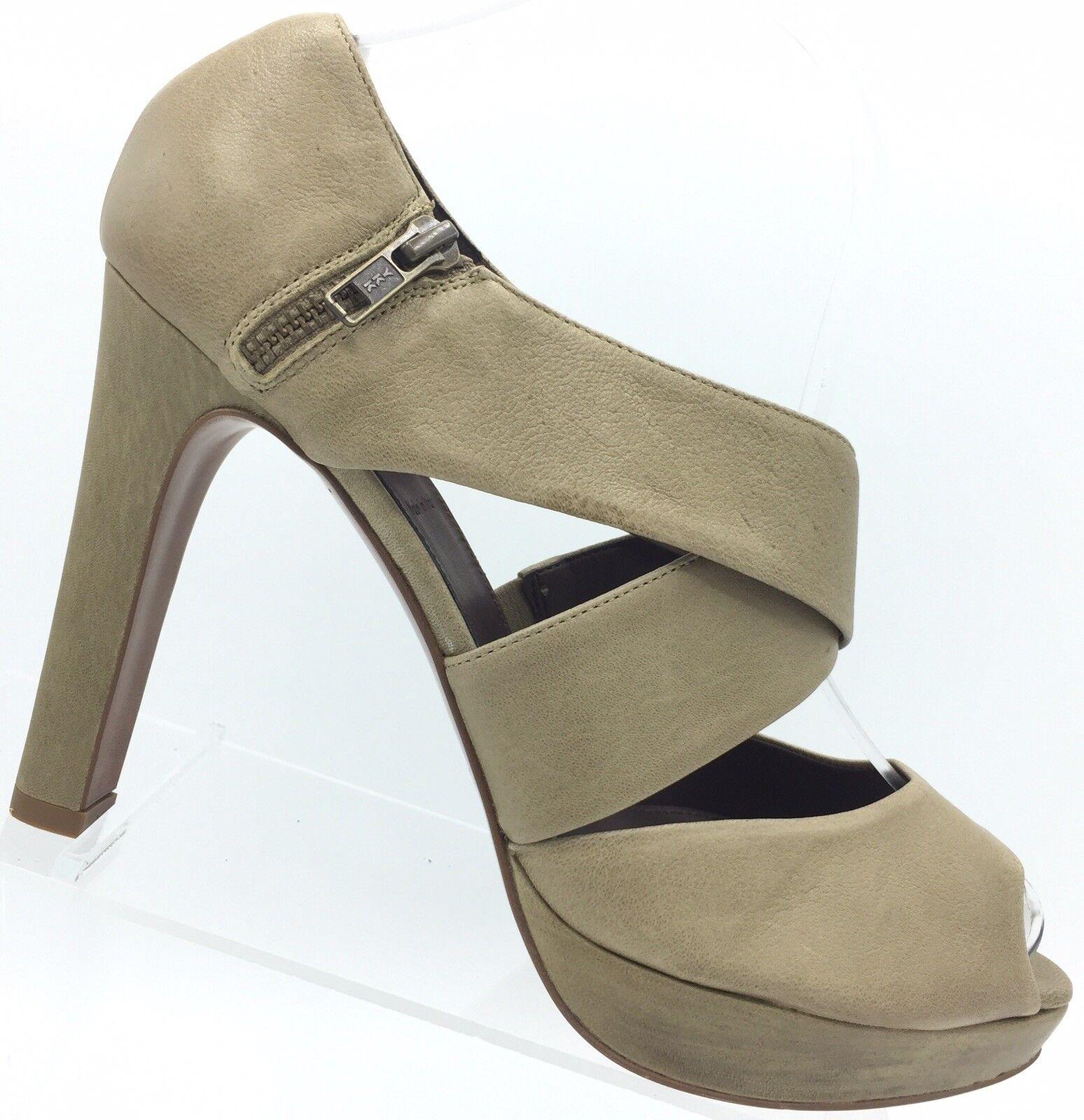 fino al 50% di sconto J Crew Heels Heels Heels Lindy Italian Leather Platform Peep Toe Tan Beige Sz 10 Retail  265  disegni esclusivi