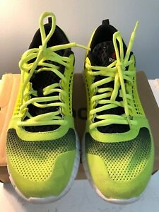 b6771bf80783 Image is loading REEBOK-ZQUICK-ELECTRIFY-Mens-Running-shoes-Yellow-Size-