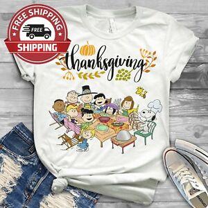 HAPPY-THANKSGIVING-The-Peanuts-WHITE-SHIRT