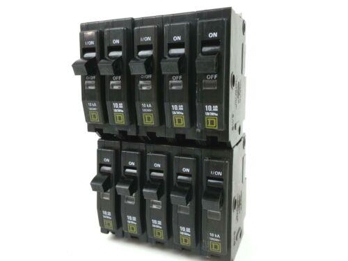 QOB120 Square D Circuit Breaker Lot of 10