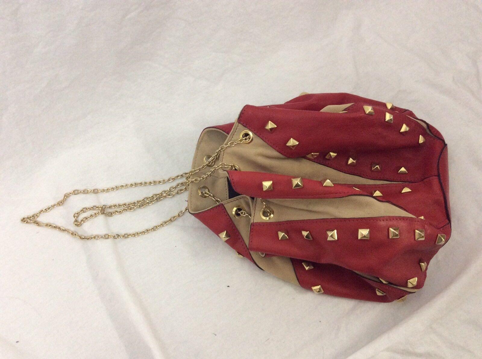 Zara Tasche Rot Beige Leder Leder Leder NEU unbenutzt Topshop Blogger   Am wirtschaftlichsten  591f1d