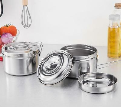 Stainless Steel Bento Box Food Container Storage Thermal Insulation Lunch Box