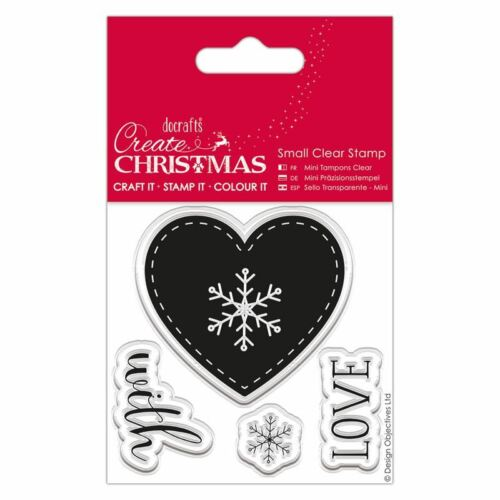 Do-Crafts Papermania Clear Stamps Christmas Nordic Heart for Cards or Crafts