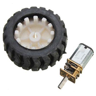 60RPM 6V N20 Micro Getriebemotor Gummi Rad für DIY Roboter intelligenter Auto