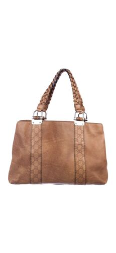 Gucci Bamboo Bar Leather Tote AUTHENTIC