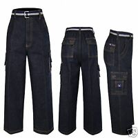 Boy Quality Cotton Jeans 8 Pockets Outfits Size 6(6-7 Years),8(8-9 Years)