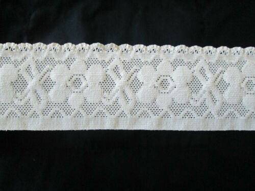 STRETCH LACE 53mm wide IVORY  3 metre length