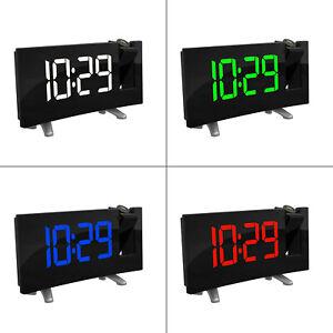 Horloge-Numerique-USB-Radio-Reveil-a-Projection-FM-avec-Double-Alarmes-Snooze