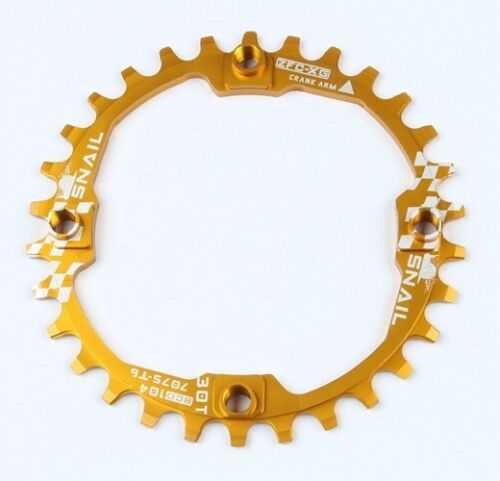 SNAIL 30T MTB DH Bike Round Narrow Wide 1x Single Chainring Chain Ring BCD 104mm