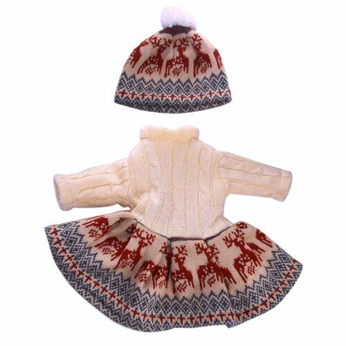 9502 Bambole VESTITI VESTITO ABITO A MAGLIA INVERNO abito e cappello per bambole 40 CM