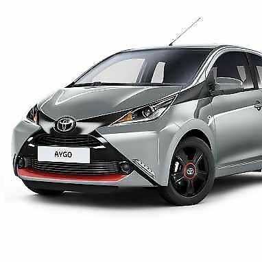 Genuine Toyota Aygo 2014 On Front /& Rear Bumper Decals Red Pop PZ438-90032-RD