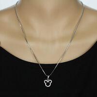 Disney Mickey Mouse Silver Rhinestone Necklace