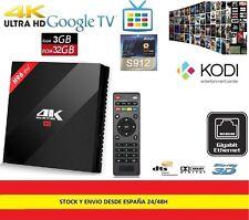 SMARTV BOX 4K 3GB RAM 32GB Android TV Quad Core,peliculas,series,futbol