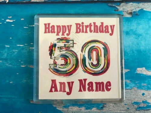 Any Age Personalised Birthday Coaster 30-40 50-60 Drink Coaster