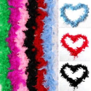 New-2M-Fluffy-Feather-Boa-Scarf-Cabaret-Costume-Dressup-Wedding-Party-Home-Decor