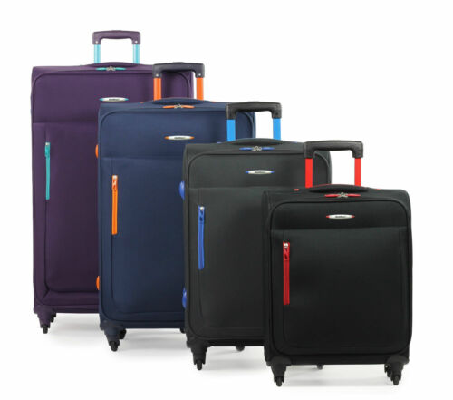 Members HiLite Lightweight Four Wheel Spinner Luggage Trolley Cases