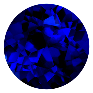 2mm - 8mm Real Russian Synthetic Lab Blue Sapphire AAAA Round Loose Gem