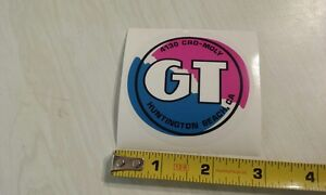 1987 GT Pro Performer handlebar decal magenta on clear old school bmx