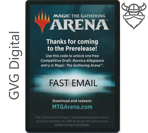 The Gathering Arena RAVNICA ALLEGIANCE Prerelease Competitive Draft Code Magic